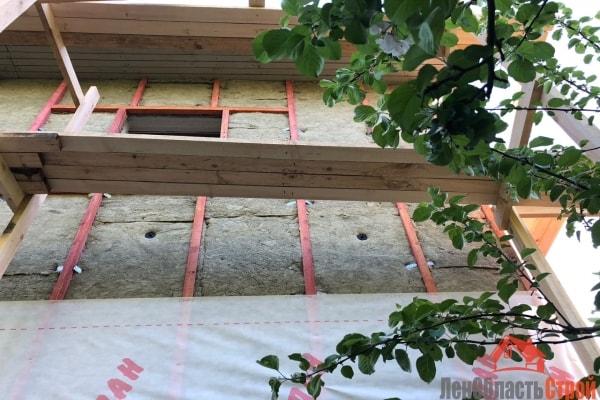 Утепление стен дома базальтовой ватой